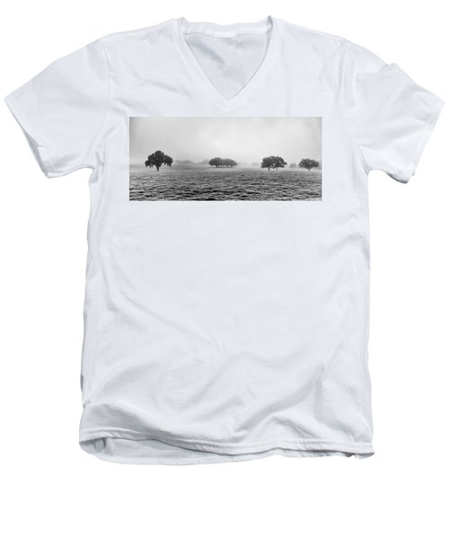 Men's V-Neck T-Shirt featuring the photograph Morning Fog by Howard Salmon