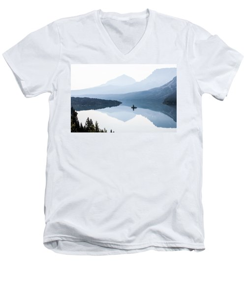 Men's V-Neck T-Shirt featuring the photograph Morning Mist by Aaron Aldrich