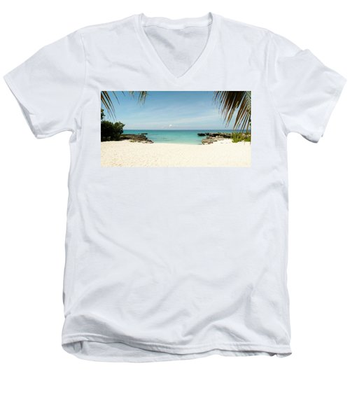 Morning Swim Men's V-Neck T-Shirt by Amar Sheow