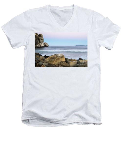 Morro Rock Morning Men's V-Neck T-Shirt