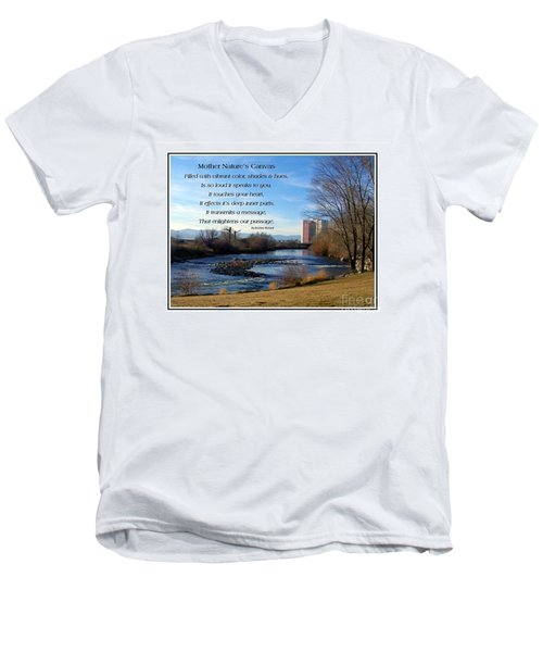 Men's V-Neck T-Shirt featuring the photograph Mother Natures Canvas by Bobbee Rickard