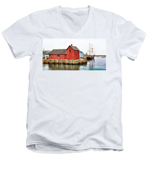 Motif Number 1 Rockport Ma Men's V-Neck T-Shirt