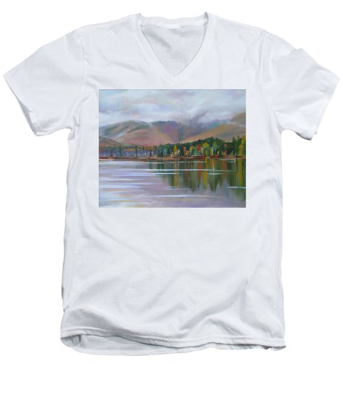 Mount Chocorua And Chocorua Lake New Hampshire Men's V-Neck T-Shirt