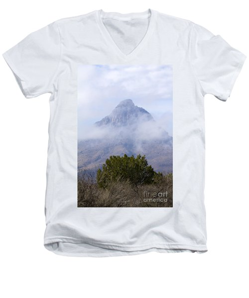 Mountain Cloaked Men's V-Neck T-Shirt by Alycia Christine