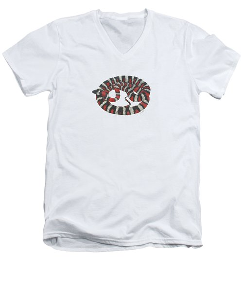 Mountain King Snake Men's V-Neck T-Shirt by Cindy Hitchcock
