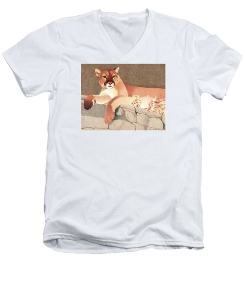 Mountain Lion Men's V-Neck T-Shirt