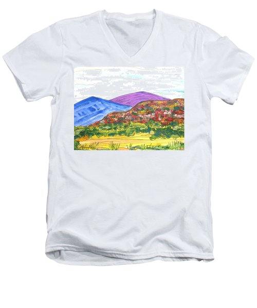 Mountains And South Mesa Men's V-Neck T-Shirt
