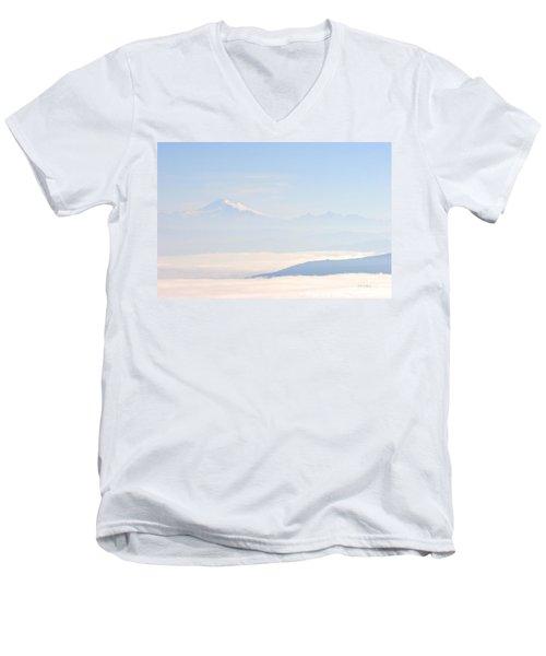 Mt. Baker From San Juan Islands Men's V-Neck T-Shirt