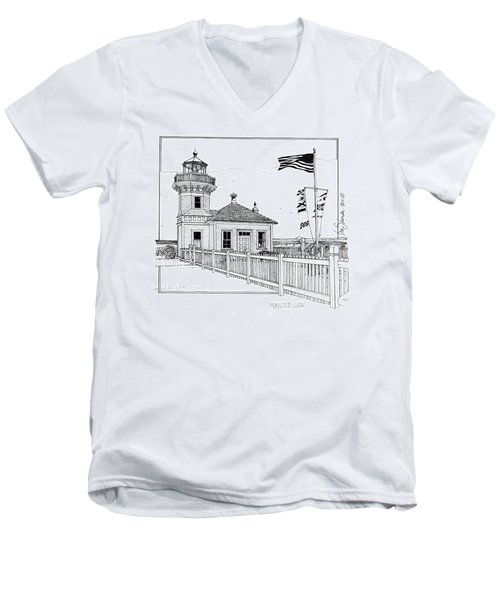Mukilteo Light Men's V-Neck T-Shirt