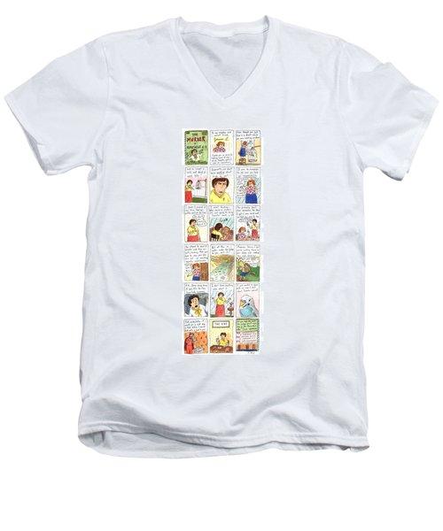 Murder In Apartment 6-k Men's V-Neck T-Shirt