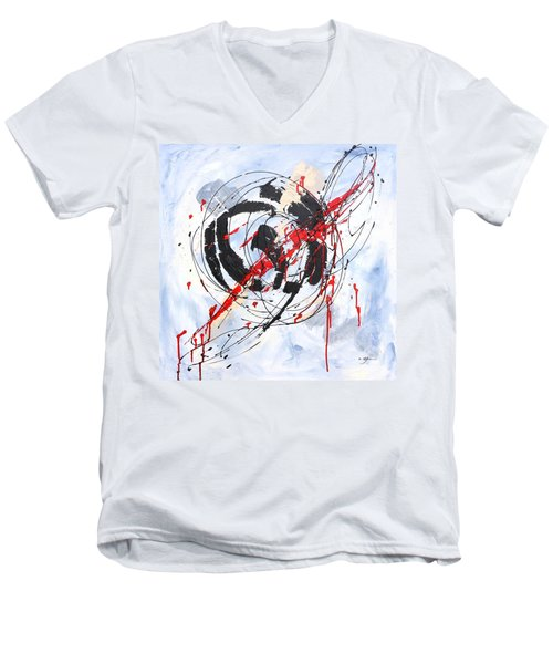 Musical Abstract 002 Men's V-Neck T-Shirt