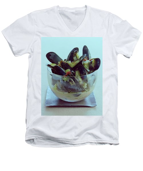 Mussels In Broth Men's V-Neck T-Shirt