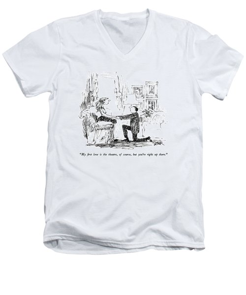 My First Love Is The Theatre Men's V-Neck T-Shirt