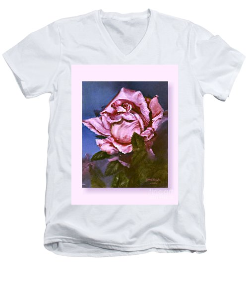 My First Rose Men's V-Neck T-Shirt