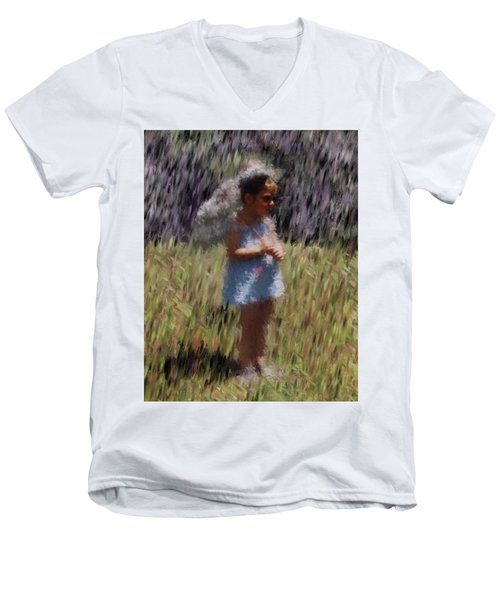 My Lee Men's V-Neck T-Shirt by Vickie G Buccini