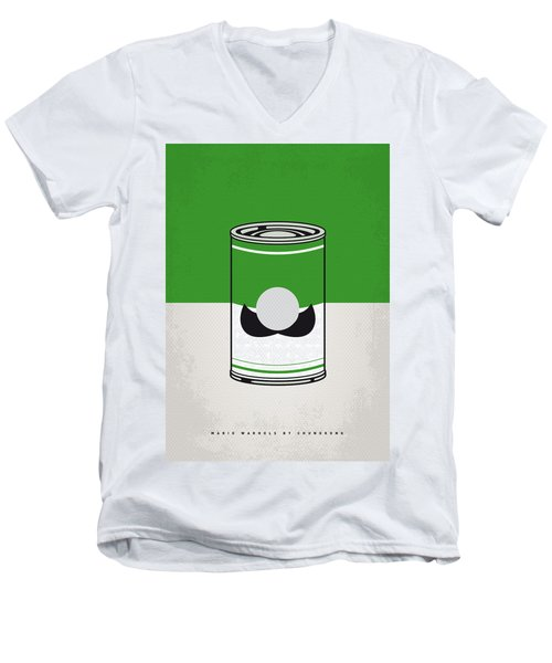 My Mario Warhols Minimal Can Poster-luigi Men's V-Neck T-Shirt