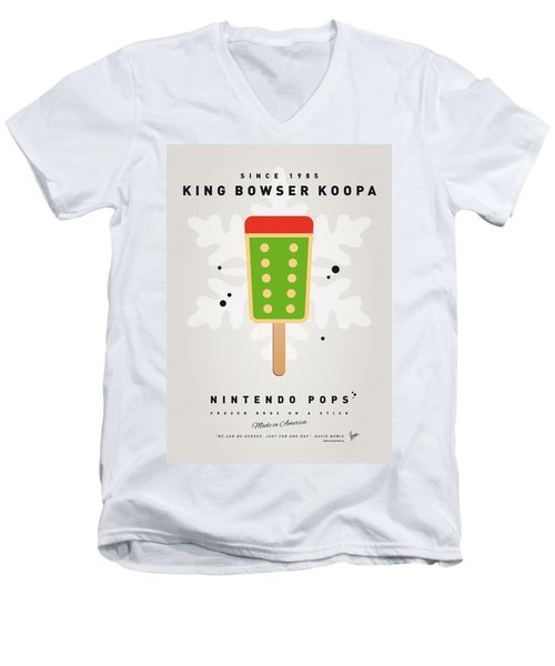 My Nintendo Ice Pop - King Bowser Men's V-Neck T-Shirt