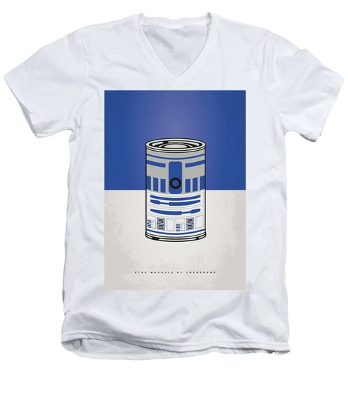 My Star Warhols R2d2 Minimal Can Poster Men's V-Neck T-Shirt