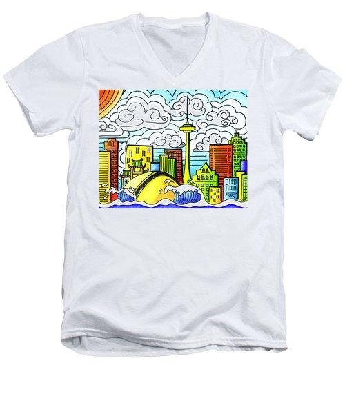 My Toronto Men's V-Neck T-Shirt by Oiyee At Oystudio