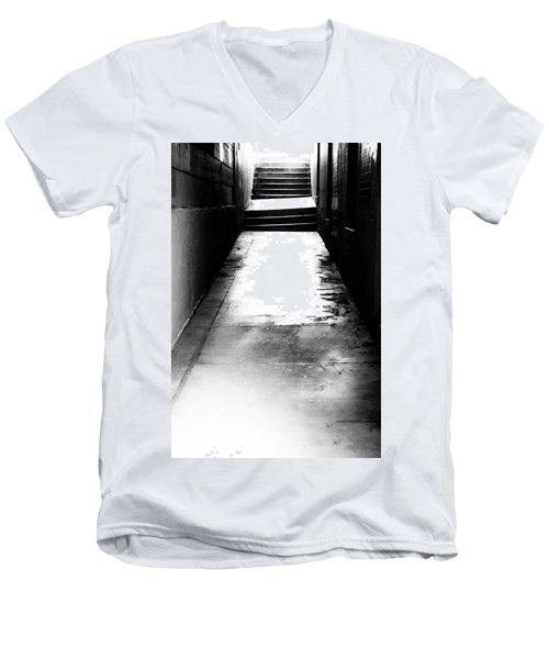 Mysterious Walkway Men's V-Neck T-Shirt by Shelby  Young