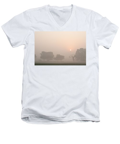 Mystic Landscape Men's V-Neck T-Shirt by Lana Enderle