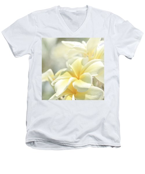 Na Lei Pua Melia Aloha E Ko Lele Men's V-Neck T-Shirt