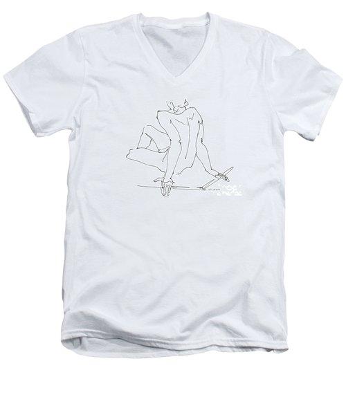 Naked-men-art-15 Men's V-Neck T-Shirt