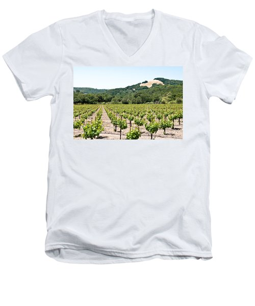 Napa Vineyard With Hills Men's V-Neck T-Shirt