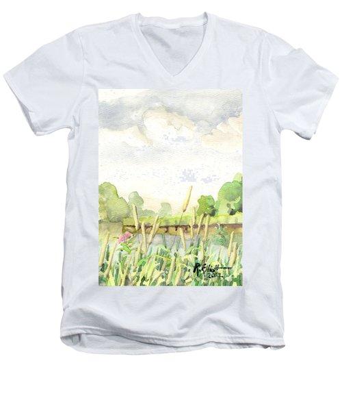 Napanee River West Men's V-Neck T-Shirt