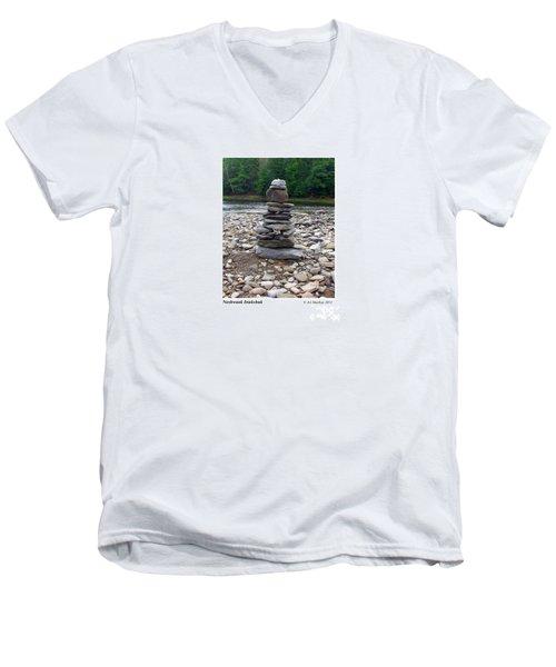 Nashwaak Inukshuk Men's V-Neck T-Shirt