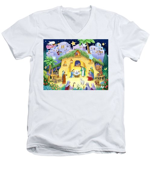 Nativity For Children Men's V-Neck T-Shirt