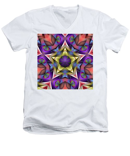 Natural Attributes 16 Square Men's V-Neck T-Shirt by Wendy J St Christopher