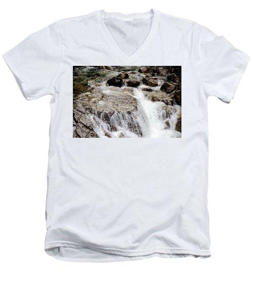 Backroad Waterfall Men's V-Neck T-Shirt