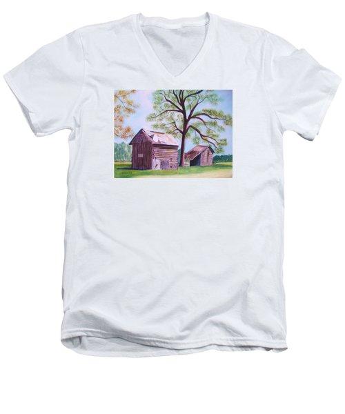 Nc Tobacco Barns Men's V-Neck T-Shirt