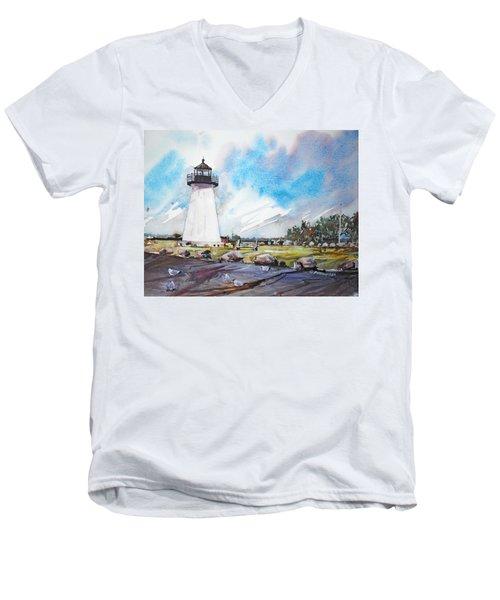 Ned's Point Light Men's V-Neck T-Shirt