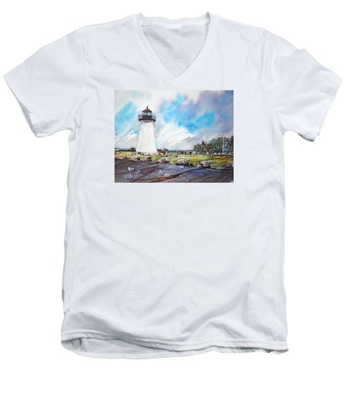 Ned's Point Light Men's V-Neck T-Shirt