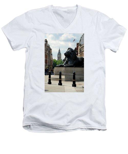Nelson's Lion Men's V-Neck T-Shirt