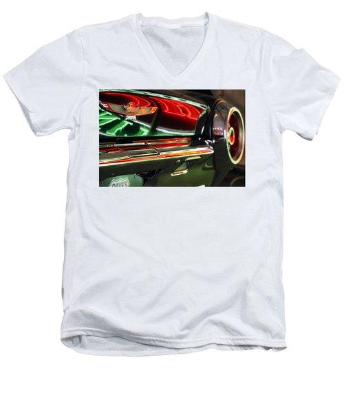 Neon Reflections Men's V-Neck T-Shirt