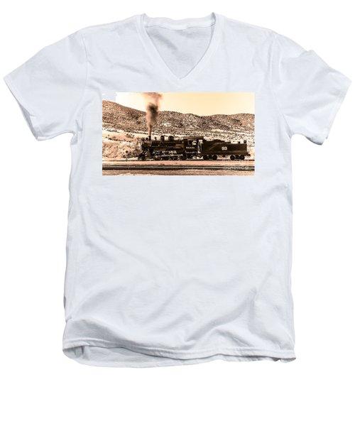 Nevada Northern Railway Men's V-Neck T-Shirt by Robert Bales