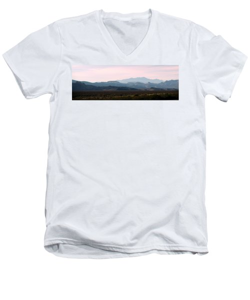 Nevada Sunset Men's V-Neck T-Shirt by Kay Novy