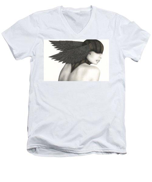 Nevermore Men's V-Neck T-Shirt by Pat Erickson