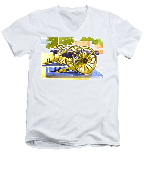 New Cannon Men's V-Neck T-Shirt