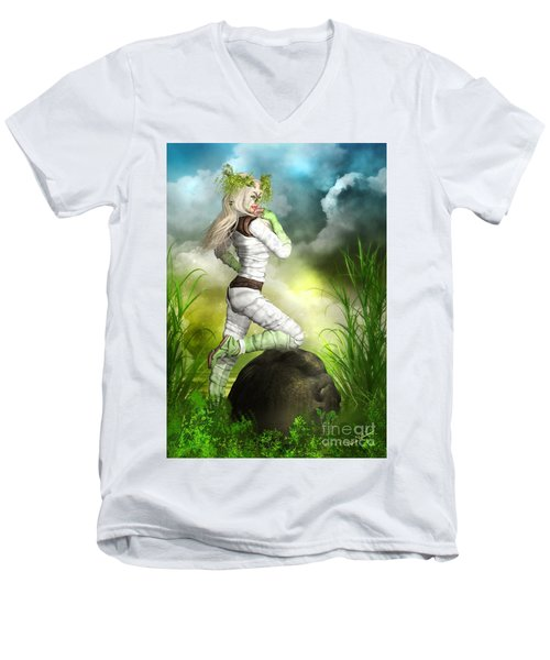 New Earth 3014 Men's V-Neck T-Shirt