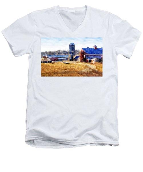 New England Farm 2 Men's V-Neck T-Shirt