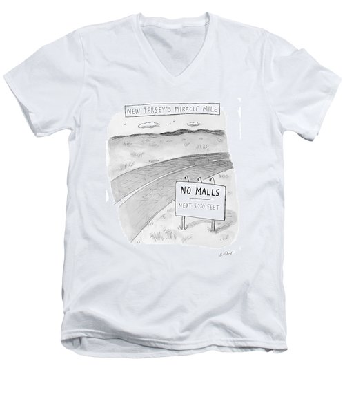 New Jersey's Miracle Mile Men's V-Neck T-Shirt