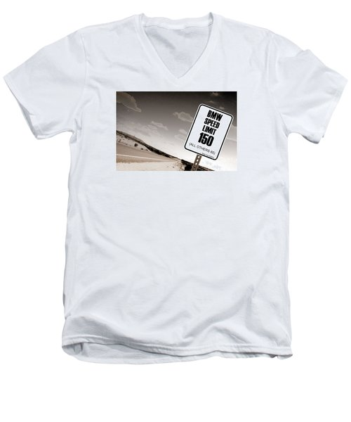Men's V-Neck T-Shirt featuring the photograph New Limits Sepia by David Jackson