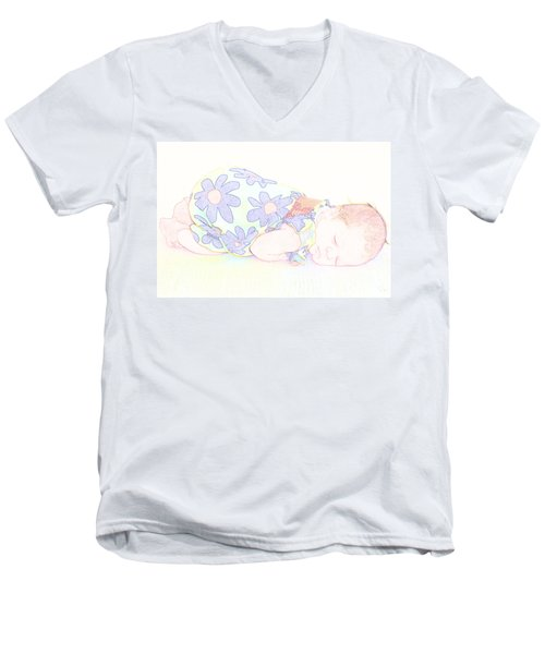 New Photographic Art Print For Sale Baby Girl Men's V-Neck T-Shirt