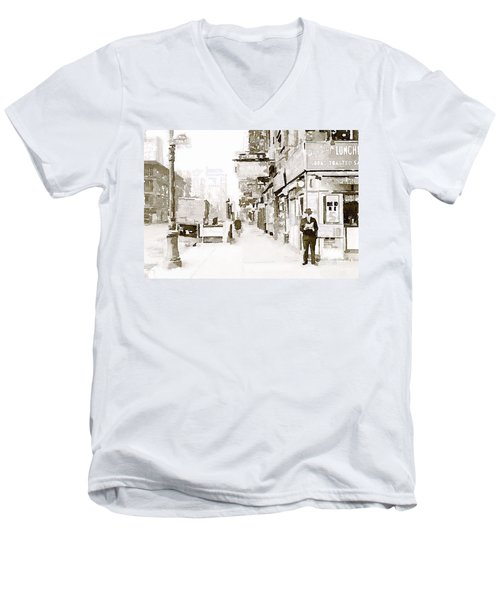 New York 1940 Men's V-Neck T-Shirt