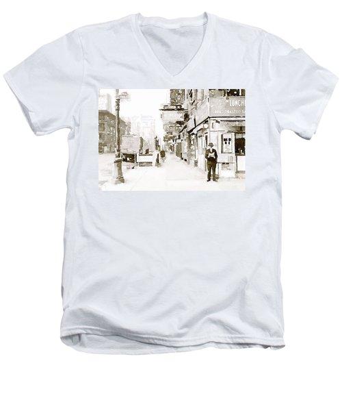 New York 1940 Men's V-Neck T-Shirt