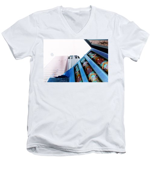 New York New York Men's V-Neck T-Shirt